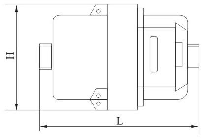 立式容积式水表外形尺寸图